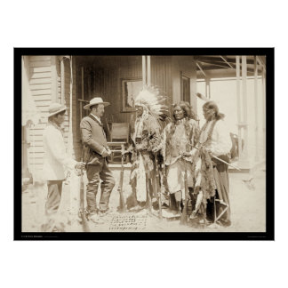Interviewing Three Cheyenne Indians SD 1887 Poster