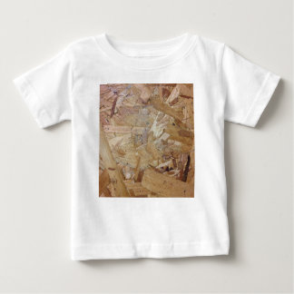 Interweaving particle board baby T-Shirt