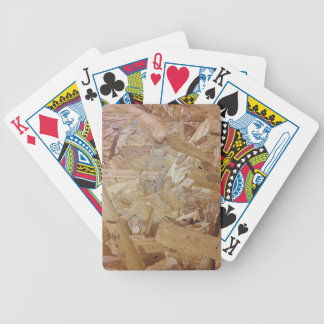 Interweaving particle board bicycle playing cards
