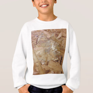 Interweaving particle board sweatshirt
