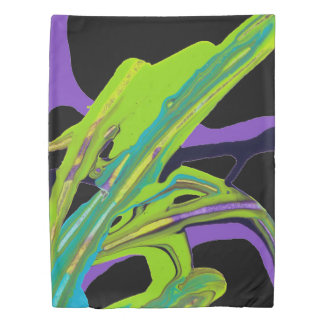 """Interwoven"" Abstract Painting (black) Duvet Cover"
