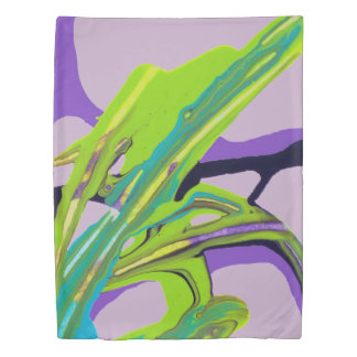 """Interwoven"" Abstract Painting (pale purple) Duvet Cover"
