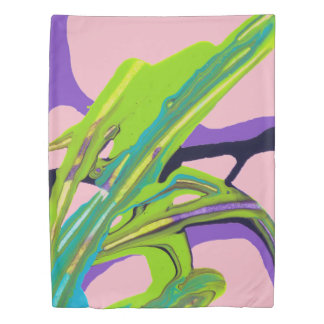 """Interwoven"" Abstract Painting (pink) Duvet Cover"