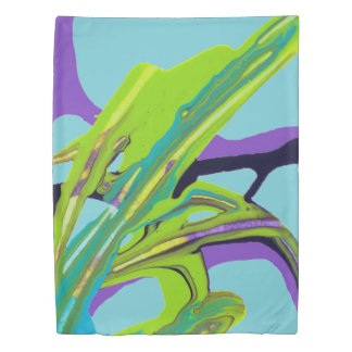 """Interwoven"" Abstract Painting (robin egg blue) Duvet Cover"