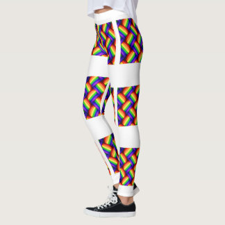 Interwoven LGBT Gay Pride Rainbow Ribbon Leggings