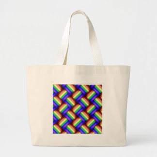 interwovenrainbowribbonxxx large tote bag