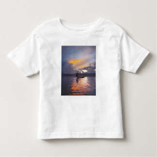 Intha fisherman leg rowing boat fishing with net tshirts