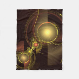 Intimate Connection Abstract Art Fleece Blanket