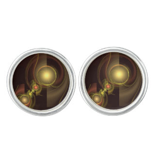 Intimate Connection Abstract Art Silver Plated Cuff Links