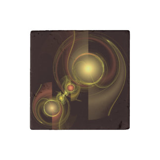Intimate Connection Abstract Art Stone Magnets