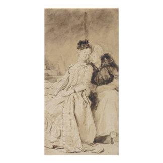 Intimate Conversation by Fragonard Custom Photo Card