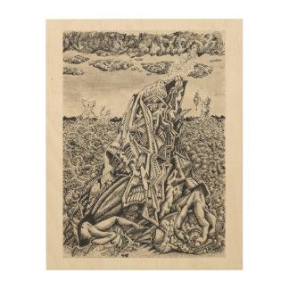 Intimidation, by Brian Benson Wood Print