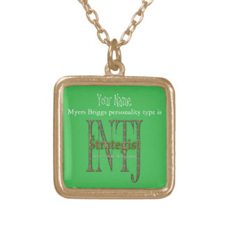 INTJ theStrategist Gold Plated Necklace