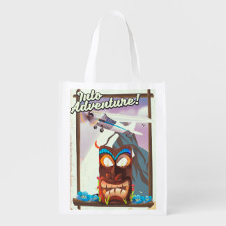 into adventure! reusable grocery bag