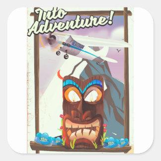 into adventure! square sticker