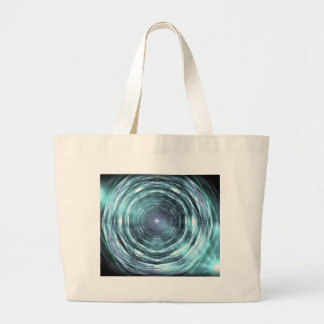 Into the black hole large tote bag