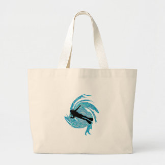 Into the Blue Large Tote Bag