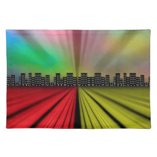 Into the City at Night Placemat
