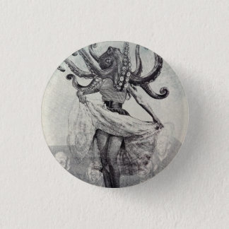 Into the darkness, into the sea. 1 inch round button