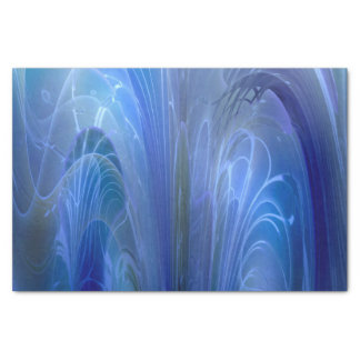 Into the Deep Blue Fantasy Abstract Art Tissue Paper