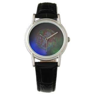Into_The_Galaxy_Ladies_Black_Leather_Watch Watches