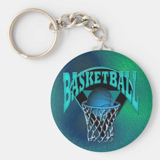 Into The Hoop Basketball and Backboard Key Chain
