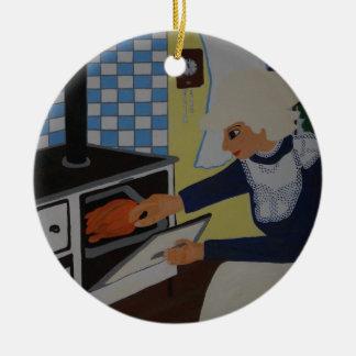 into the kitchen ceramic ornament