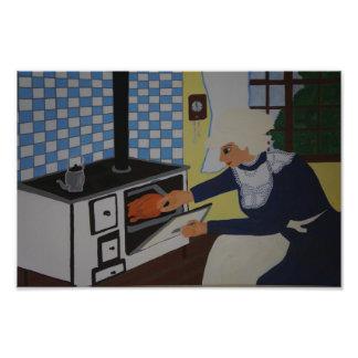 into the kitchen photo print