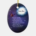 Into The Light Butterfly Ceramic Oval Ornament