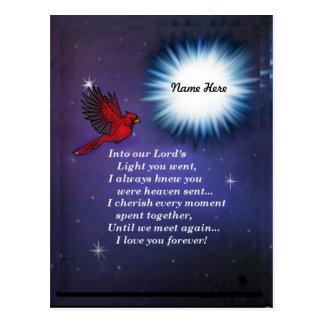 Into the light cardinal postcard