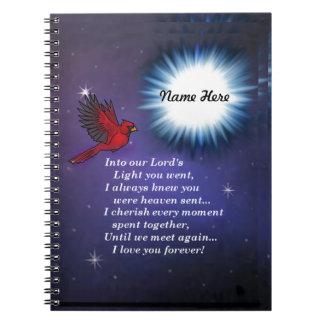 Into the light cardinal spiral notebook