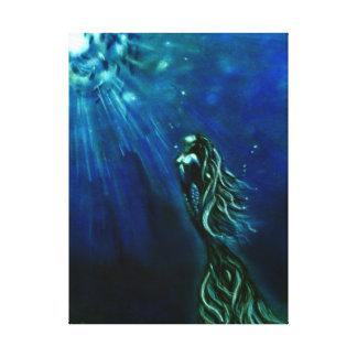 Into The Light Mermaid Canvas Print