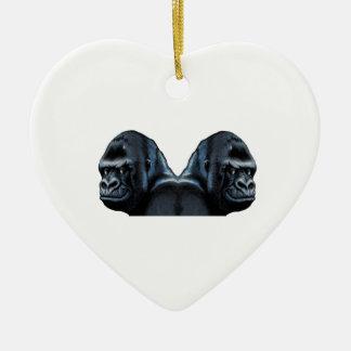 Into the Mist Ceramic Heart Ornament