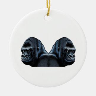 Into the Mist Round Ceramic Ornament