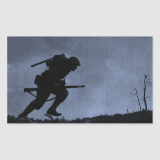 Into the Night a Soldier on the Battlefield Sticker
