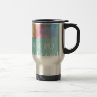 Into the Wild - Boho Watercolor Wanderlust Travel Mug