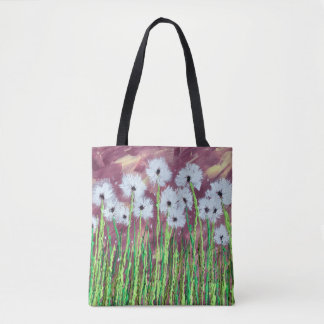Into the Wind Dandelions Tote Bag