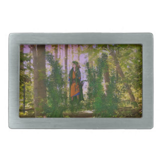 Into the woods rectangular belt buckle