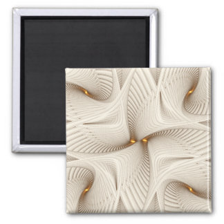 Into White Abstract Pattern Square Magnet