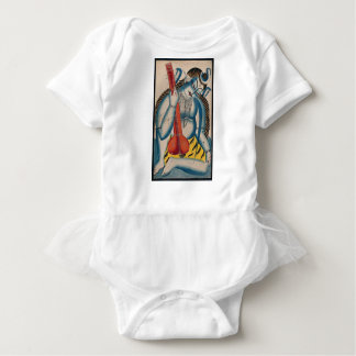 Intoxicated Shiva Holding Lamb Baby Bodysuit
