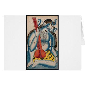 Intoxicated Shiva Holding Lamb Card