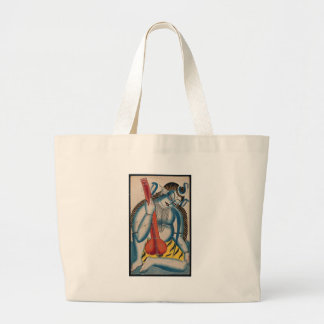 Intoxicated Shiva Holding Lamb Large Tote Bag