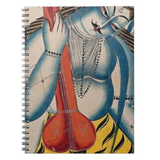 Intoxicated Shiva Holding Lamb Notebooks