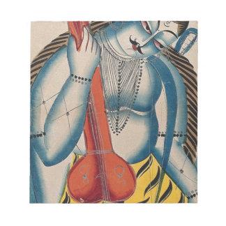 Intoxicated Shiva Holding Lamb Notepad