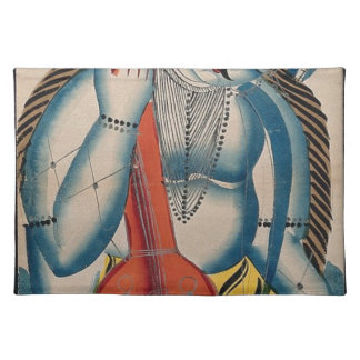 Intoxicated Shiva Holding Lamb Place Mat
