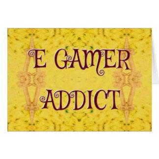 Intoxiqué de Gamer d'E de jaune nouveau Carte De Vœux