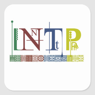 INTP Logo - Myers-Briggs Name Tag/Sticker Square Sticker