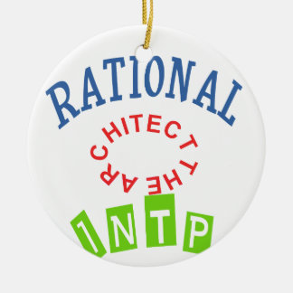 INTP Rational personality Round Ceramic Ornament