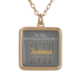 INTP theArchitect Gold Plated Necklace