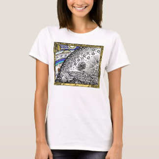 Intracate Celestial sphere Sun Moon Stars Planets T-Shirt